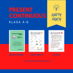 karty pracy present continuous