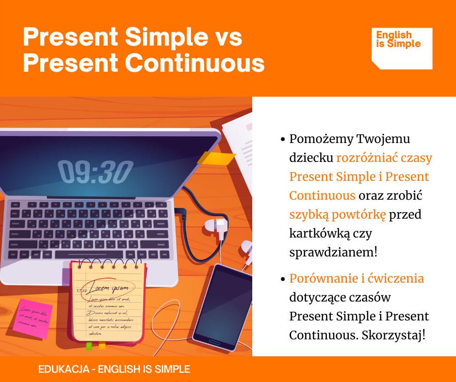 Present Simple i Present Continuous – szybka powtórka