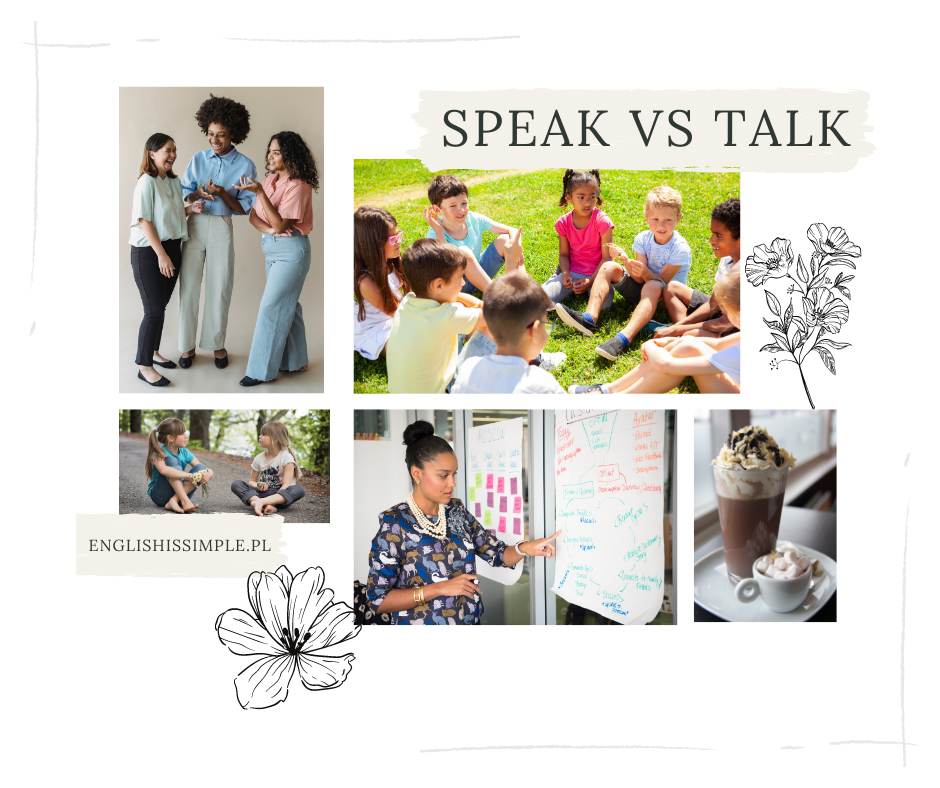 Speak vs talk