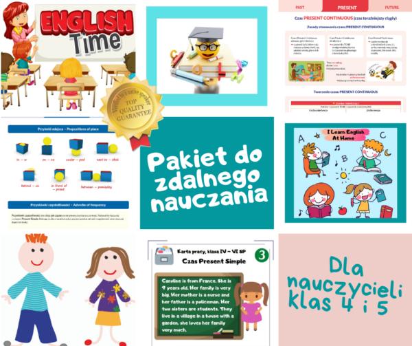 materiały do zdalnego nauczania angielskiego